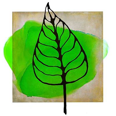 Mixed Media - Abstract Botanical Silhouette Design by Patricia Strand