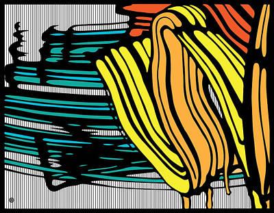 Digital Art - Abstract Brush Strokes by Gary Grayson