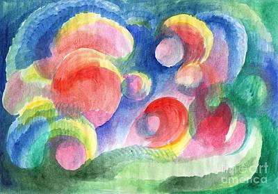 Painting - Abstract Bubbles Watercolor by Irina Dobrotsvet