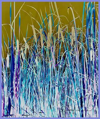 Mixed Media - Abstract Cattails by Jennifer Lake