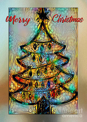 Digital Art - Abstract Christmas Wishes By Kaye Menner by Kaye Menner