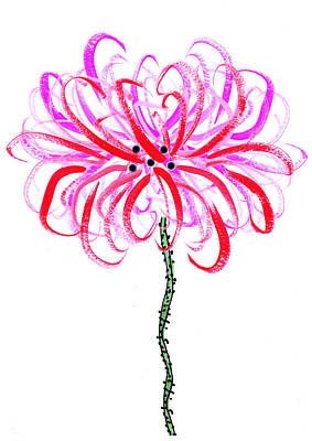 Painting - Abstract Chrysanthemum Flower by Steven Clarke