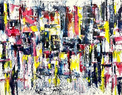 Painting - Abstract City Contemporary Painting by Jennifer Morrison Godshalk