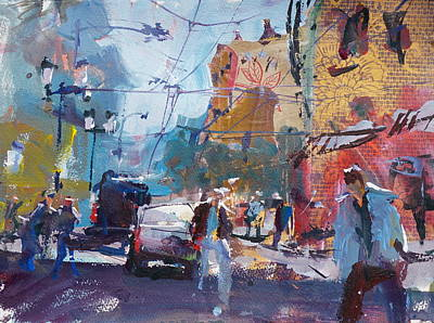 Painting - Abstract Cityscape Painting by Robert Joyner