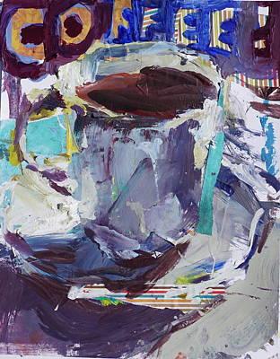 Abstract Coffee Cup Print Art Print