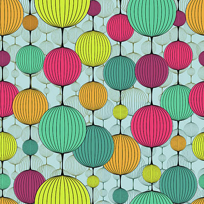 Digital Art - Abstract Colorful Chaplet Seamless by Pgmart
