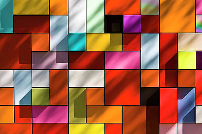 Photograph - Abstract Colorful Facade by Stuart Dee