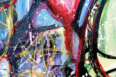 Photograph - Abstract Colourful Paint Splatters by Photosmash