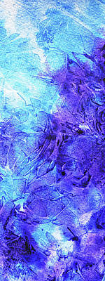 Royalty-Free and Rights-Managed Images - Abstract Cool Frosted Watercolor I by Irina Sztukowski