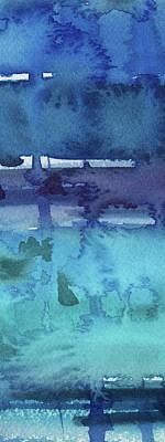 Painting Royalty Free Images - Abstract Cool Watercolor Splash I Royalty-Free Image by Irina Sztukowski