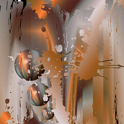 Digital Art - Abstract Copper by Robert G Kernodle