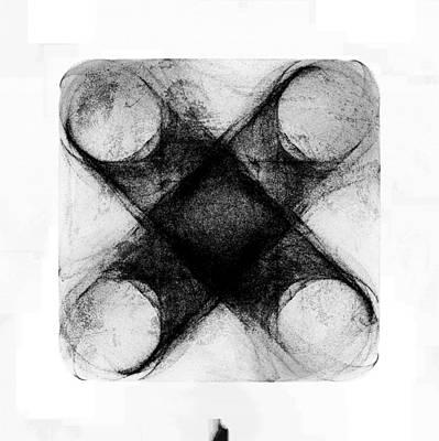 Mixed Media - Abstract Cross by David Ridley