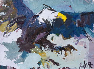 Painting - Abstract Eagle Painting by Robert Joyner