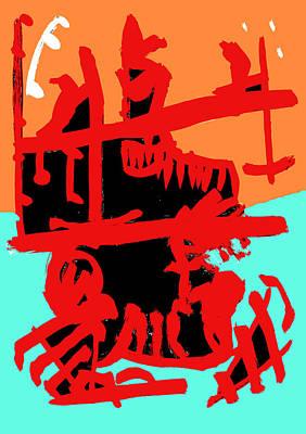 Digital Art - Abstract Expressionism Digital 1 by Artist Dot