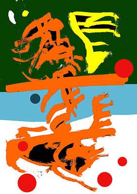 Digital Art - Abstract Expressionism Digital 4 by Artist Dot