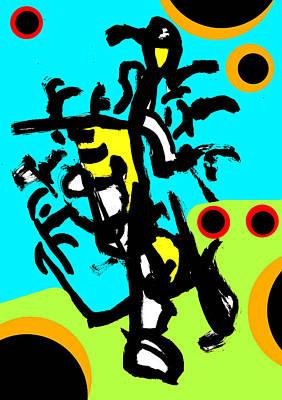 Digital Art - Abstract Expressionism Digital 5 by Artist Dot