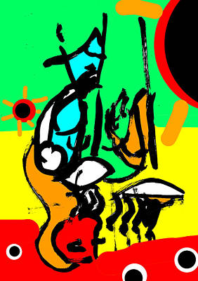 Digital Art - Abstract Expressionism Digital 6 by Artist Dot