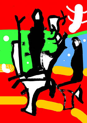 Digital Art - Abstract Expressionism Digital 7 by Artist Dot