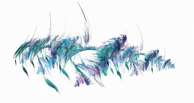 Nirvana - Abstract Feather Blue by Don Northup