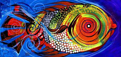 Painting - Abstract Fire Gill by J Vincent Scarpace