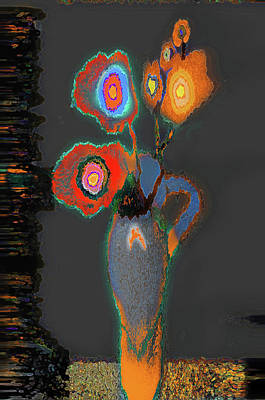 Digital Art - Abstract Floral Art 367 by Miss Pet Sitter