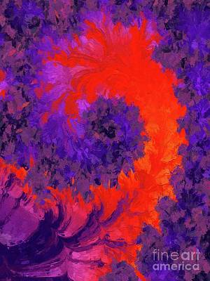 Royalty-Free and Rights-Managed Images - Abstract Flower by Tito by Esoterica Art Agency
