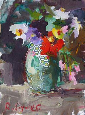 Abstract Flower Still Life Painting Art Print