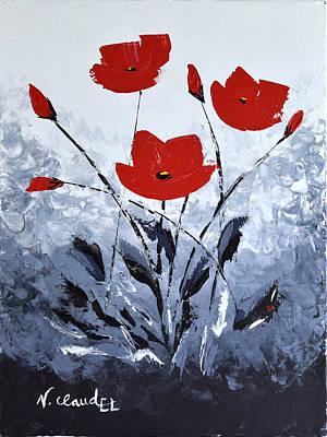 Abstract Flowers I Original