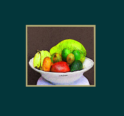 Digital Art - Abstract Fruit Art   113 by Miss Pet Sitter