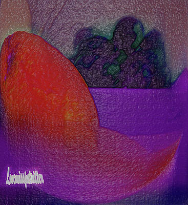 Digital Art - 	Abstract Fruit Art   132 by Miss Pet Sitter