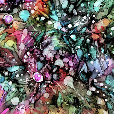 Painting - Abstract Galaxy 2 by Jean Batzell Fitzgerald