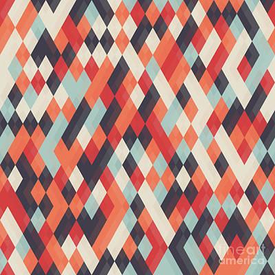 Abstract Geometric Background For Art Print by Churunchik