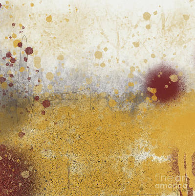 Painting - Abstract Golden Glow by Go Van Kampen