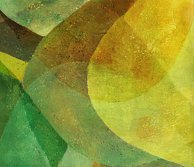 Photograph - Abstract Green And Yellow Painting by Qweek