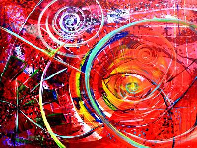 Painting - Abstract Help by J Vincent Scarpace