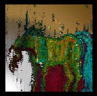 Digital Art - Abstract Horse In The Rain by Joan Stratton