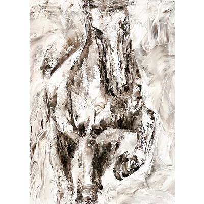 Painting - Abstract Horse by Jennifer Morrison Godshalk