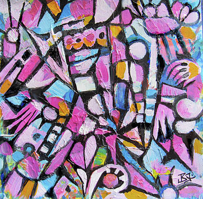 Painting - Abstract In Pink by Jean Batzell Fitzgerald