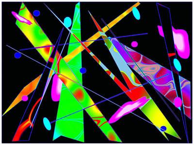 Digital Art - Abstract Kandinsky by Mario Carini
