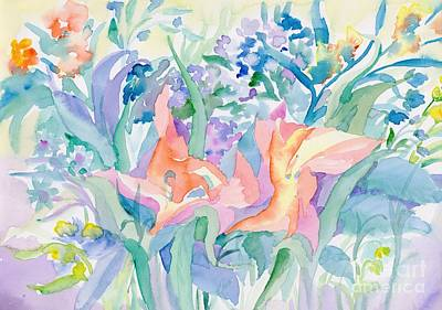 Outerspace Patenets - Abstract lilies by Irina Dobrotsvet