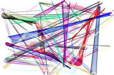 Mixed Media - Abstract Lines by David Ridley