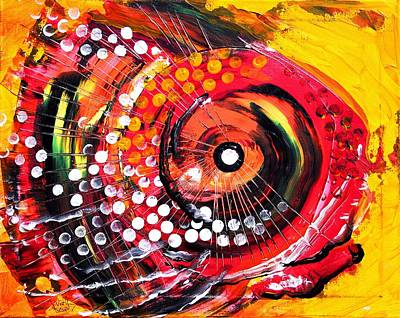 Painting - Abstract Lion Fish by J Vincent Scarpace