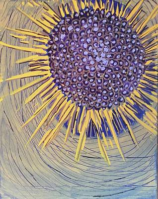 Painting - Abstract Nova Flower by Cherylene Henderson