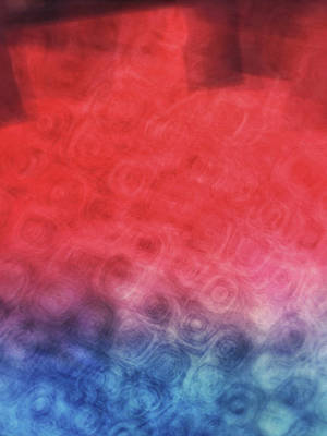Photograph - Abstract Of Patterns Of Blue, Red And Pink Colors Blurred And Blended Together by Teri Virbickis