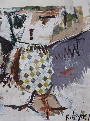 Painting - Abstract Owl Art by Robert Joyner