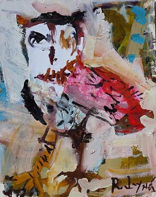 Painting - Abstract Owl Artwork by Robert Joyner