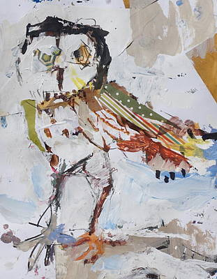 Painting - Abstract Owl Painting by Robert Joyner
