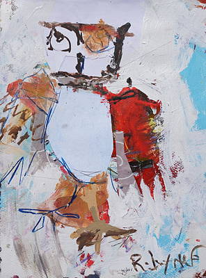 Painting - Abstract Owl Print by Robert Joyner