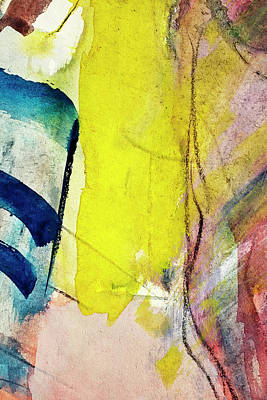 Photograph - Abstract Painted Blue And Yellow  Art by Ekely