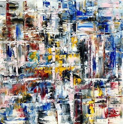 Painting - Abstract Painting Internal Thoughts by Jennifer Morrison Godshalk